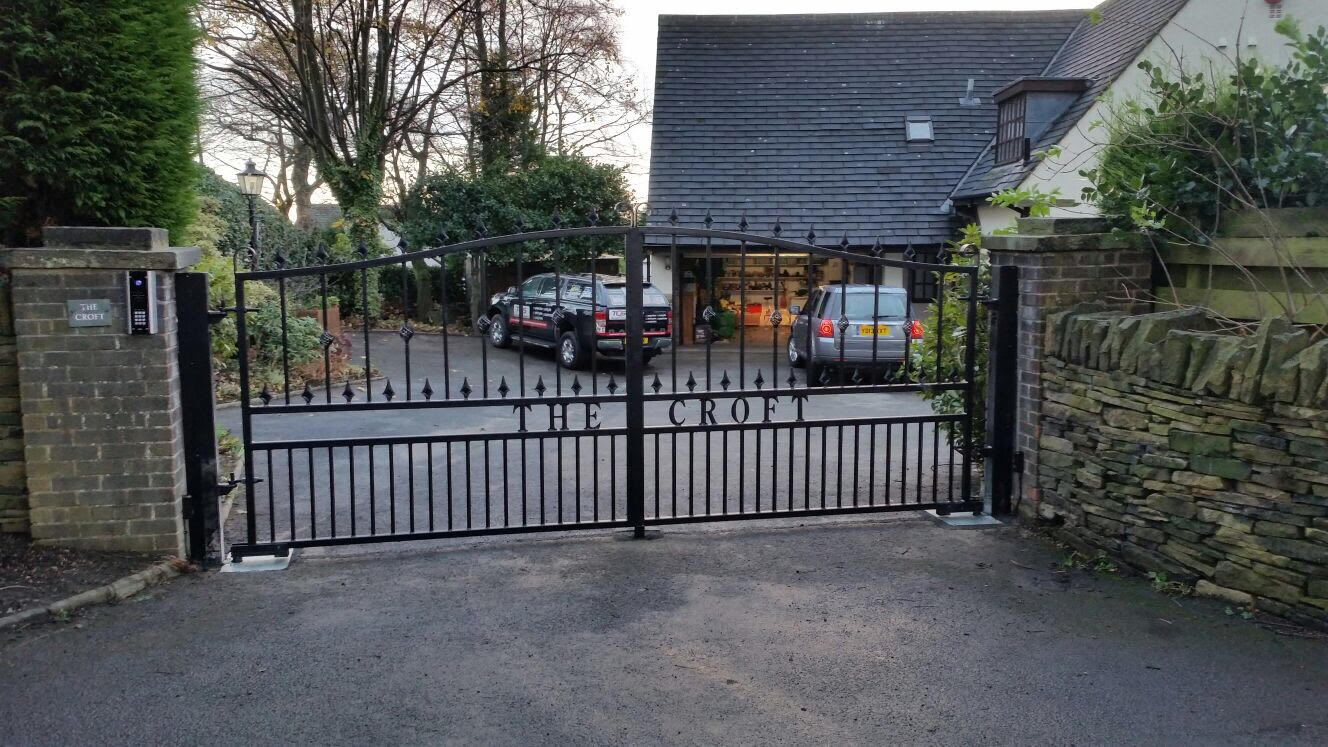 Automated Wrought iron gates in Huddersfield