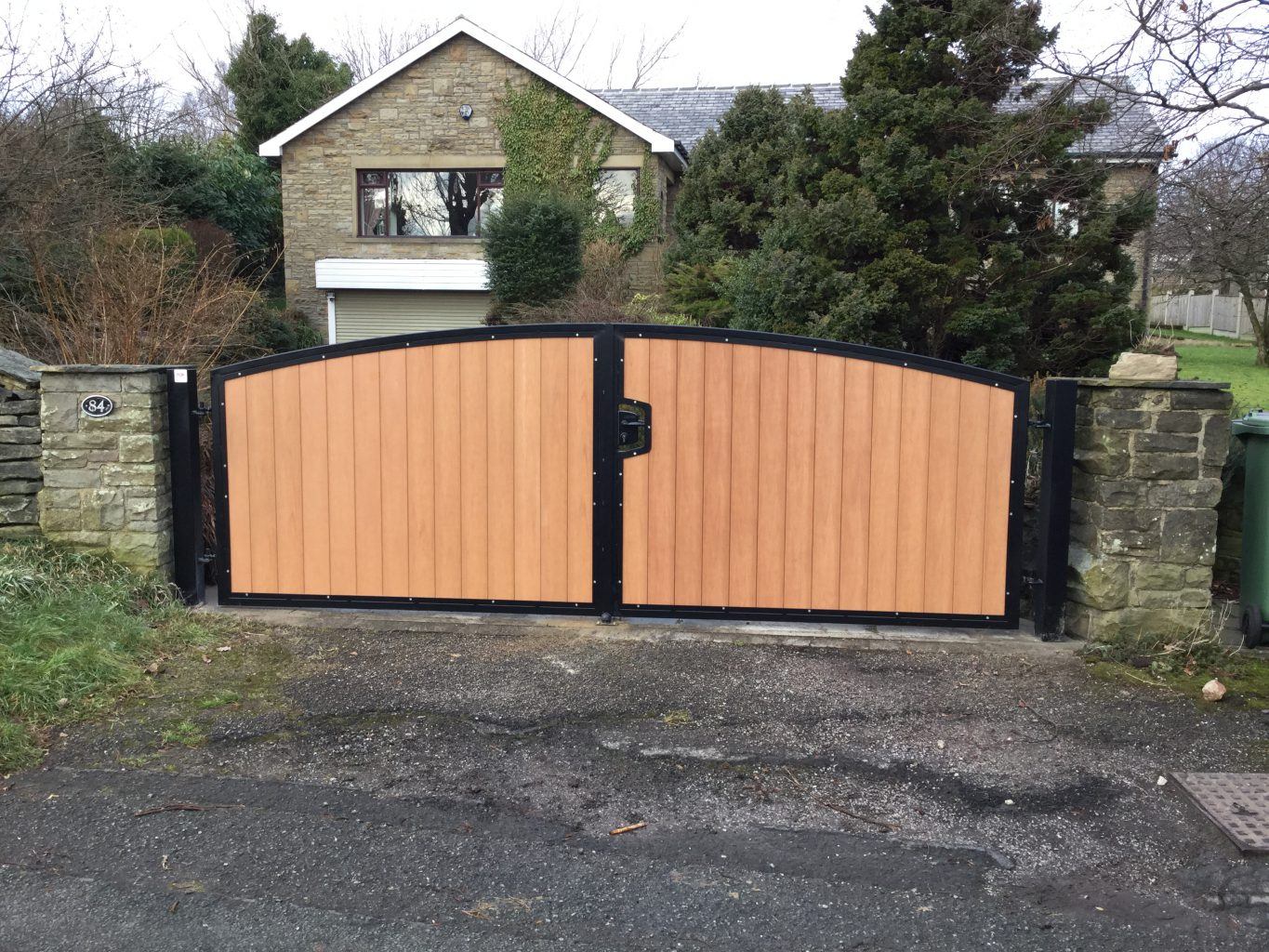 Composite board gate installation in Meltham